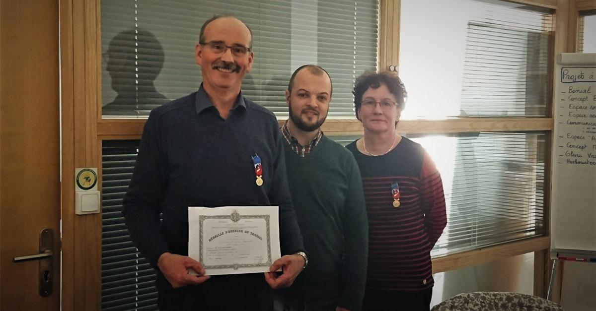Remise de médaille Brigitte et Didier Gerbier, commerçants La Rochefoucauld