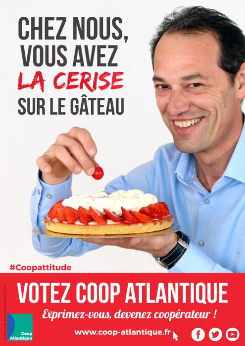 Votez Coop Atlantique : Vous avez la cerise sur le gâteau