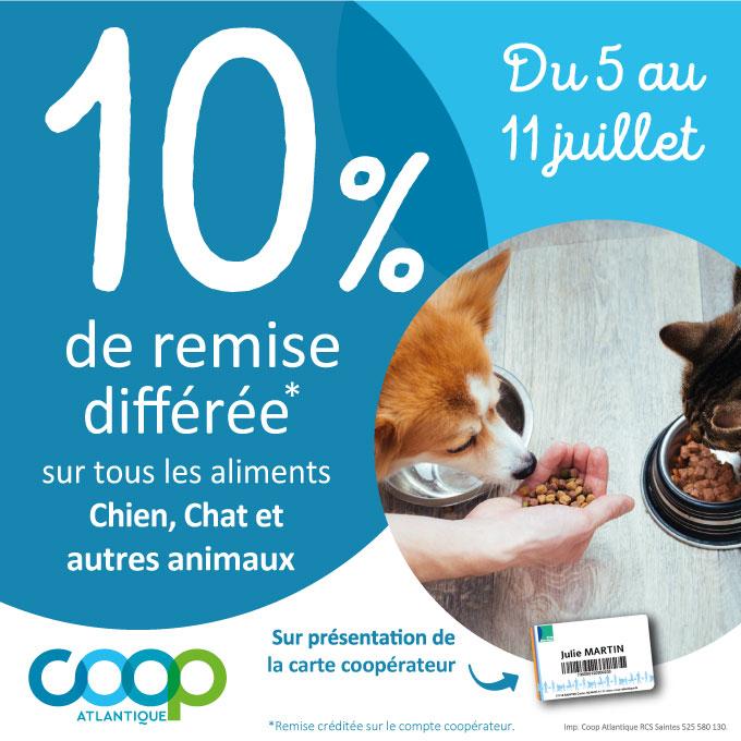 Offre coopérateurs juillet 2021 - aliments chiens et chats