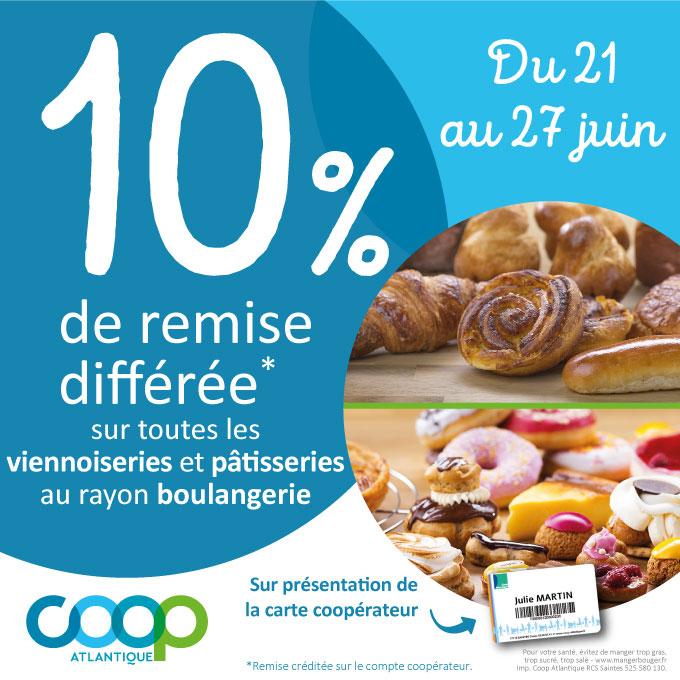 Offres coopérateurs juin 2021 - Boulangerie - viennoiserie
