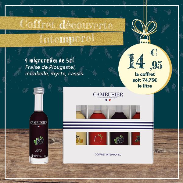 Coffret Intemporel 4 mignonnettes – Cambusier