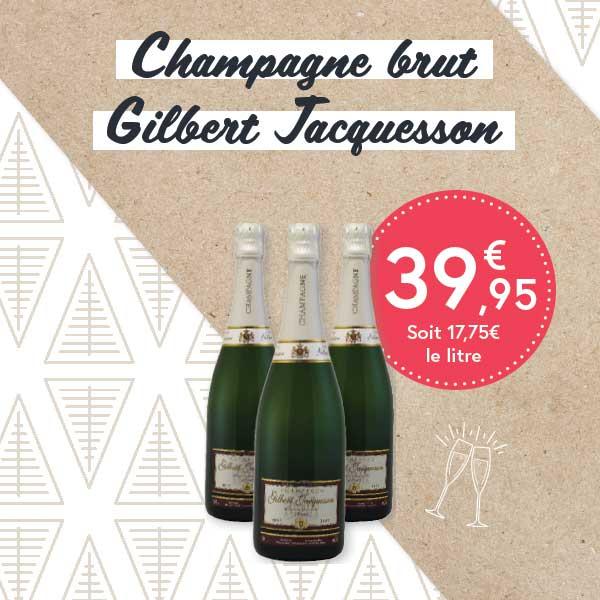 Champagne brut Gilbert Jacquesson
