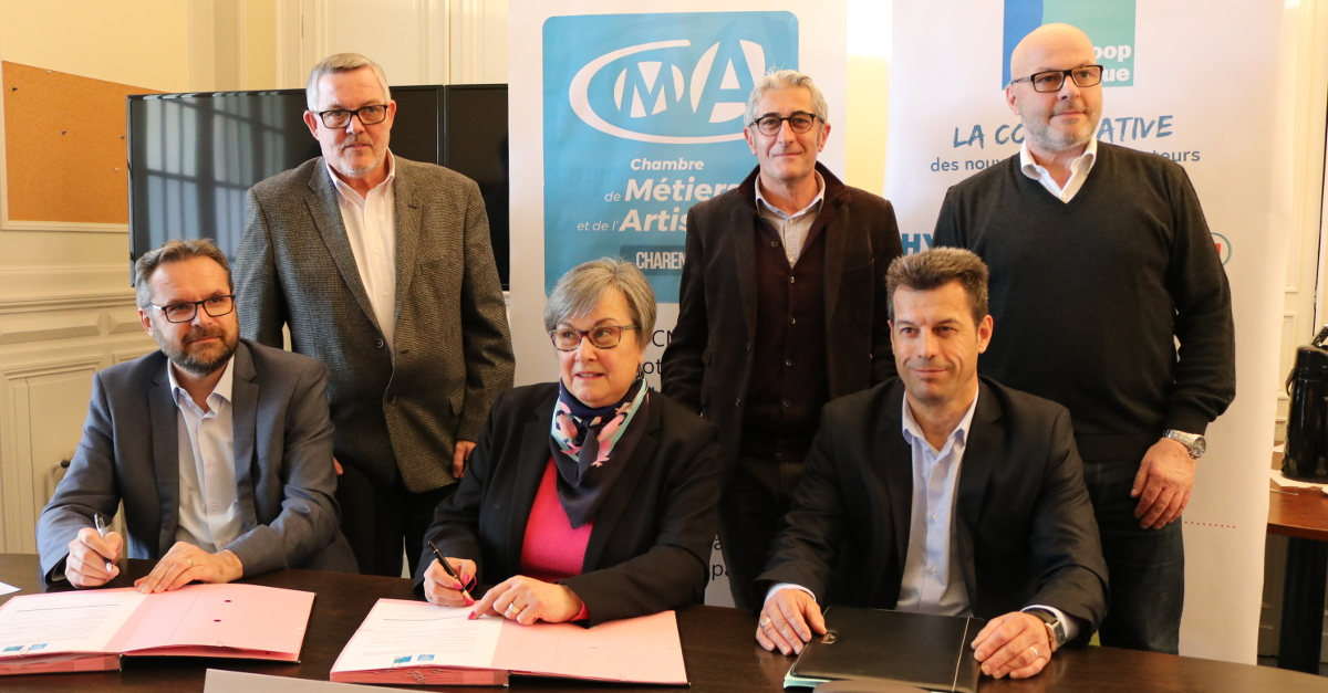 Signature convention apprentis bouchers de Charente