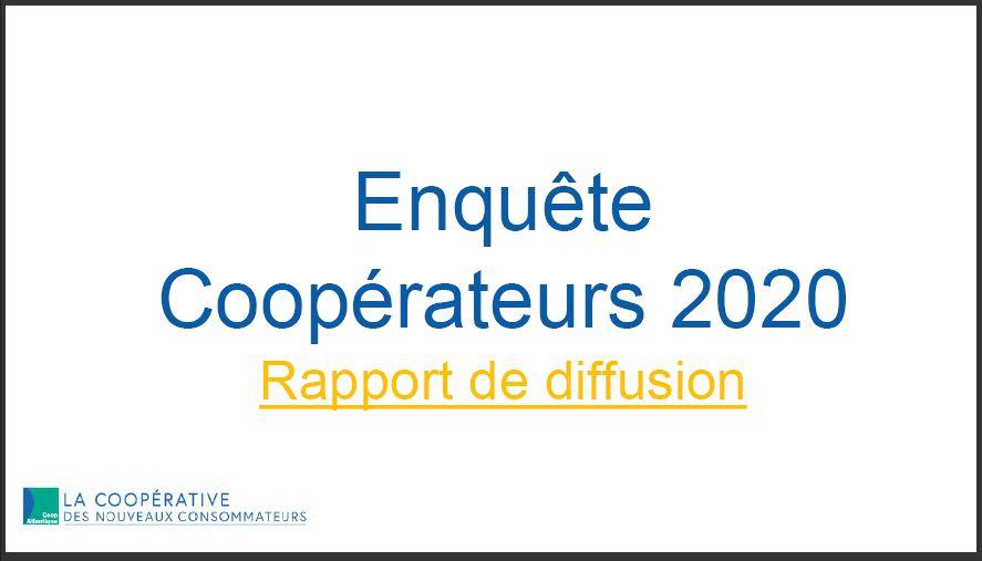 Résultats de l'enquête coopérateurs 2020