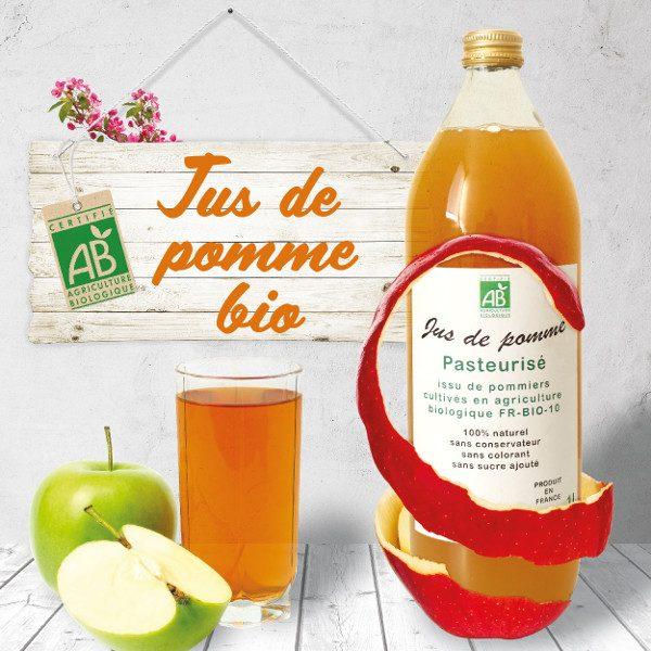 Jus de pomme Bio - Carton 6 bouteilles 1l