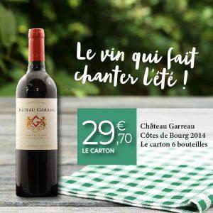 Coffret de vins Château Garreau Côtes de Bourg 2014
