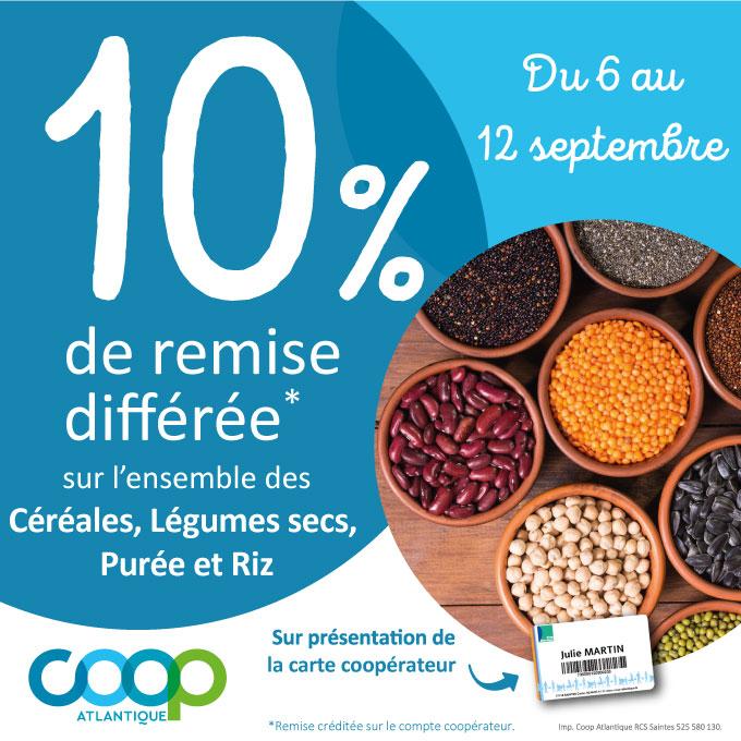 Offres coopérateurs septembre 2021 - Céréales