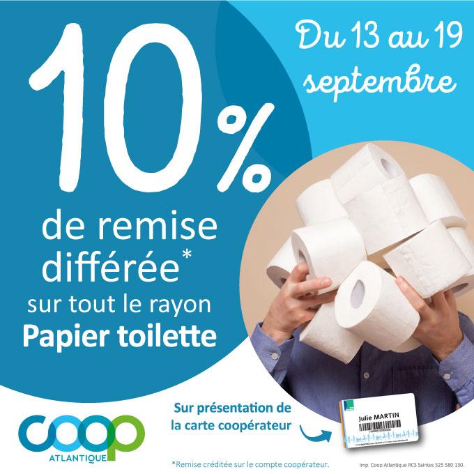 Offres coopérateurs septembre 2021 - Papier toilette