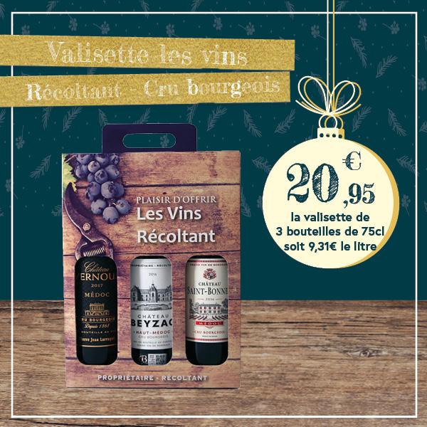 """Valisette """"Les vins Récoltant"""" – Cru Bourgeois"""