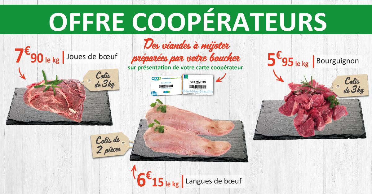 Offre coopérateurs viandes à mijoter